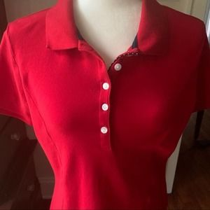 Lee Riders Red Button Down Tee